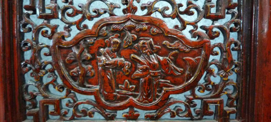 panneau sculpté chinois